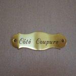 Detail naamplaatje Gastenkamer Côté Coupure