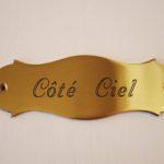 Detail naamplaatje gastenkamer Côté Ciel