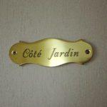 Naamplaatje kamer Côté Jardin